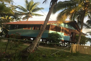 La casa de Martina, ubicada en isla Carenero, Bocas del Toro, Panamá