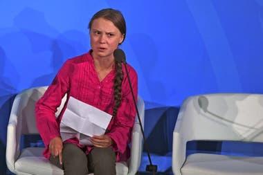 Greta Thunberg ante la ONU