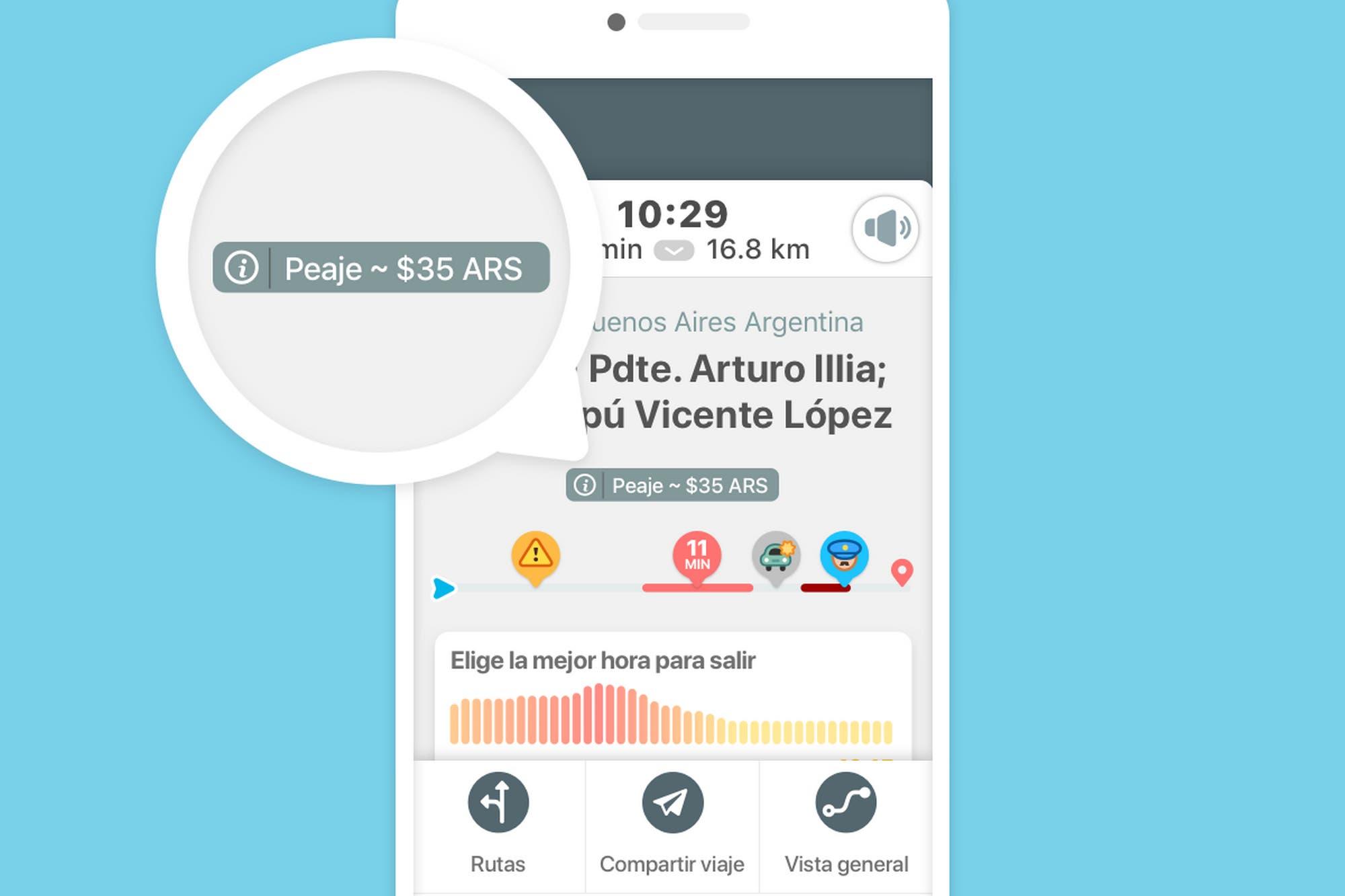 Waze ahora permite consultar y comparar precios de peajes de tus viajes