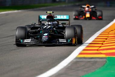 Valtteri Bottas no logró incomodar a Lewis Hamilton en el Gran Premio de Bélgica; con el segundo puesto, el finlandés suma 107 puntos y marcha tercero en el campeonato de Pilotos, a 50 unidades del británico y a tres de Max Verstappen