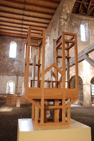 Imagen del particular instrumento dentro de la iglesia de San Burchardi, en Halberstadt, Alemania (ASLSP.org)