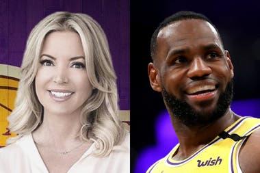 Jeanie Buss es la jefa de LeBron James: ambos fueron vitales en la construcción del título que ganaron los Lakers.