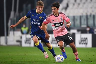 Paulo Dybala reapareció en Juventus en el empate 1-1 ante Verona; estuvo cerca del gol con varios remates