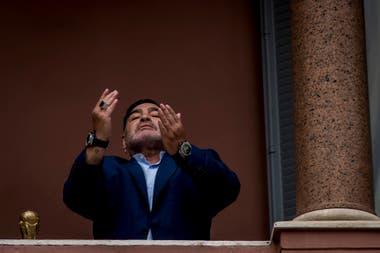 Diego Maradona por María Eugenia Cerutti, en Casa Rosada