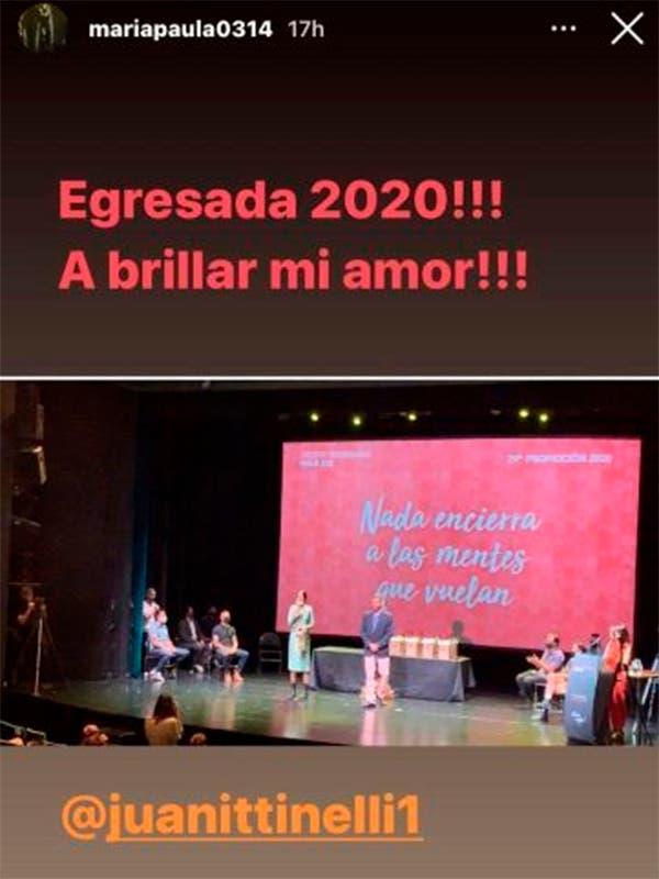 La emoción de Marcelo Tinelli y Paula Robles por el egreso de Juanita