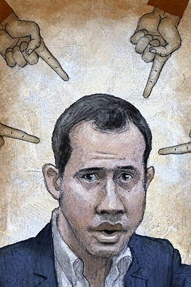Juan Guaidó en el ojo de la tormenta