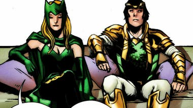 Enchantress junto a Loki