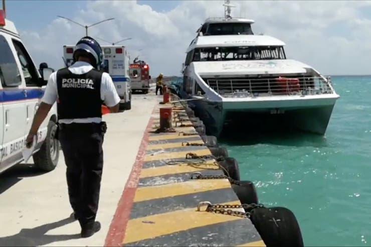 Explotó un ferry con turistas en el muelle de Playa del Carmen: 25 heridos