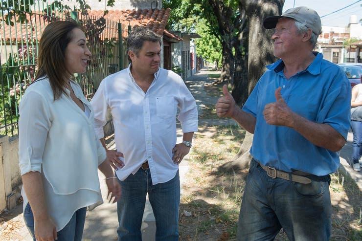 María Eugenia Vidal encabezó un timbreo con miras a la reelección ayer por la tarde