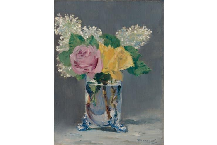 Lilas y Rosas, de Manet