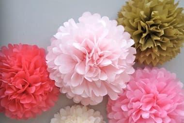 Cmo hacer flores de papel LA NACION