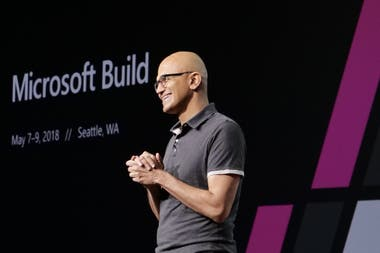 Satya Nadella en Build 2018