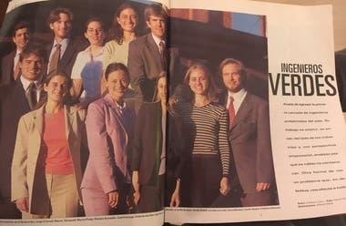 """Una nota de La Nación revista, publicada el 24 de diciembre de 2000, habla de la primera camada de """"ingenieros verdes"""" del país."""