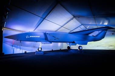 Una vista del jet de combate autónomo de Boeing, que tendrá su primer vuelo de prueba en 2020