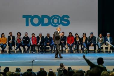 Alberto Fernández durante el cierre de campaña en Córdoba
