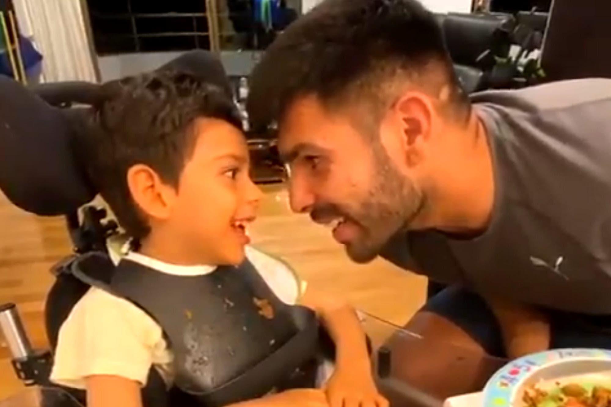 El tierno video de Silvio Romero, goleador de Independiente, cantándole a su hijo