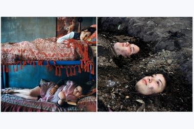 """De las Ofelias del primer libro, en claro homenaje a la célebre pintura de Millais, a un retrato de Guille y Belinda enterradas incluido en el segundo volumen. De """"Las aventuras de Guille y Belinda. La ilusión de un verano interminable"""" (MACK, 2020)"""