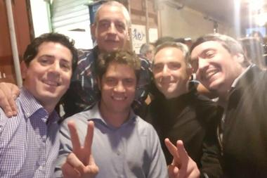 Horacio Pietragalla, en una imagen de campaña con Eduardo De Pedro, Áxel Kicillof, Andrés Larroque y Máximo Kirchner