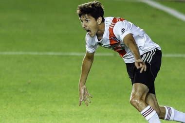 Nacho Fernández volvió tras un desgarro y marcó el 1-0.