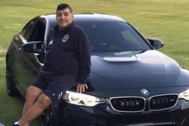 En sus últimos años, Maradona eligió los coches BMW