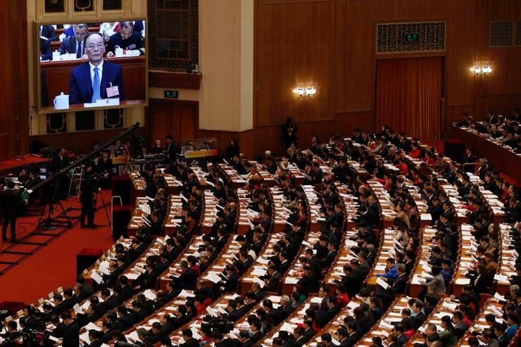 Vista del Gran Palacio del Pueblo durante la apertura de la sesión