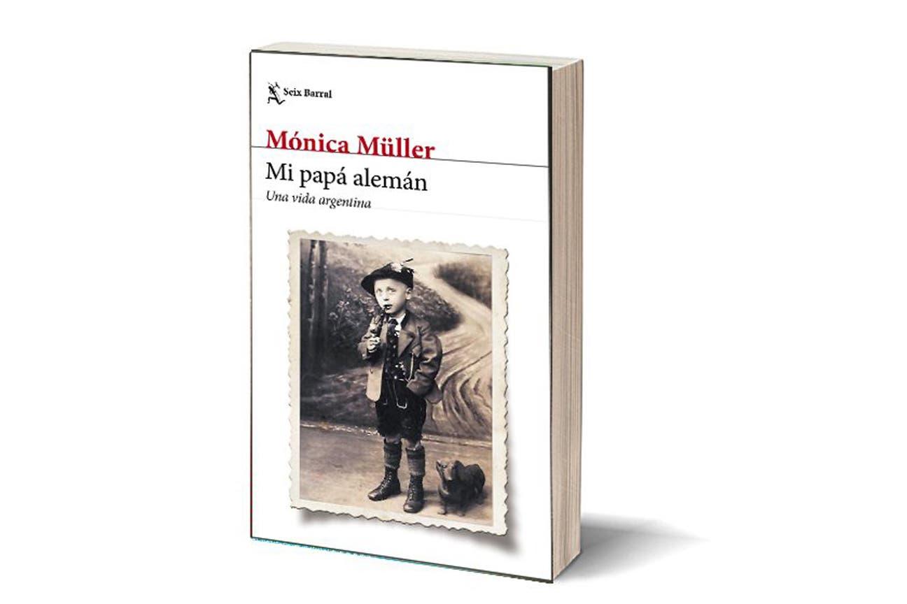 """Portada de """"Mi papá alemán"""", de Mónica Müller; en la foto, el padre de la autora cuando era un niño"""