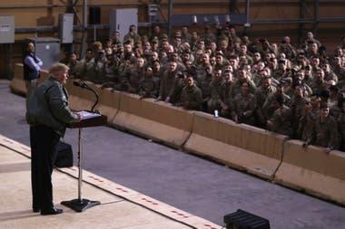 Trump aseguró que no tiene ningún plan para retirar las tropas de Irak