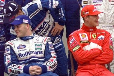 Villeneuve y Schumacher, en el GP de Jerez de la Frontera, en 1997