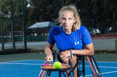 Dhers se llenó de felicidad cuando se vio en la cima del ranking junior de tenis adaptado