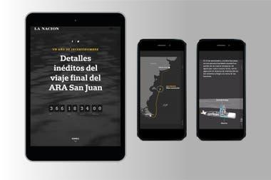 Uno de los proyectos realizados por el equipo sobre la desaparición del ARA San Juan