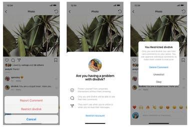 La nueva herramienta que permite restringir los comentarios que un usuario puede hacer en otra cuenta es similar al mecanismo de silencio de Twitter