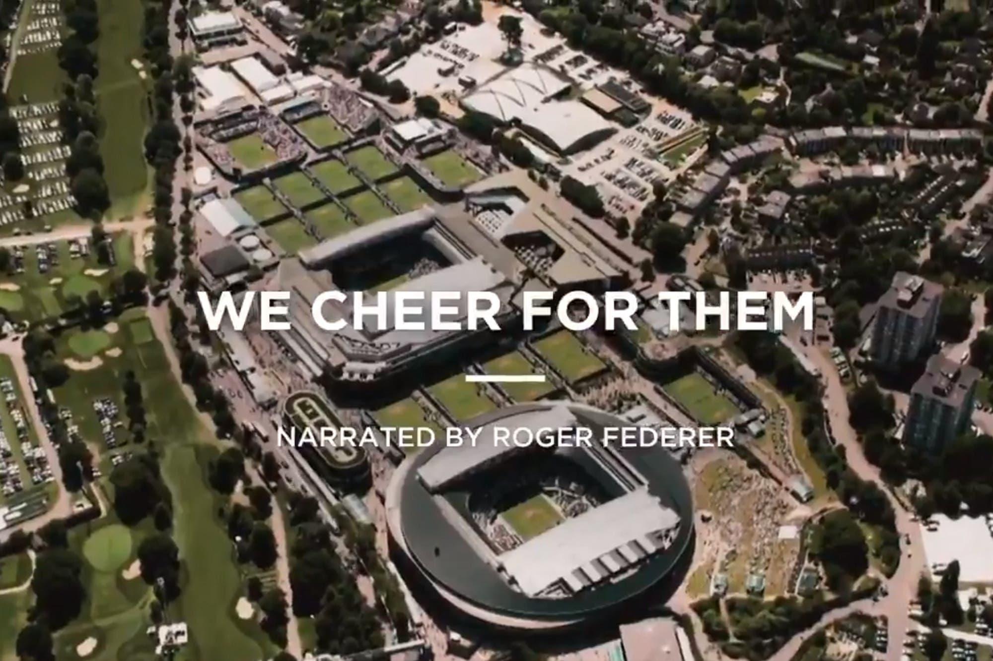 Clase y emoción: el video de Wimbledon narrado por Roger Federer en homenaje a los trabajadores de la salud