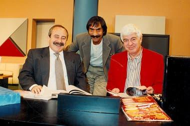 Horacio Fontova junto a Jorge Ginzburg y Adolfo Castello