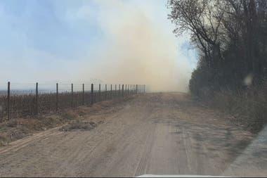 El fuego se dio a 5 km de la ciudad