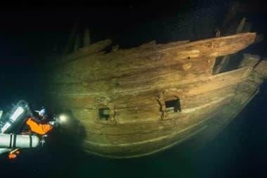 El barco se mantuvo intacto por 400 años