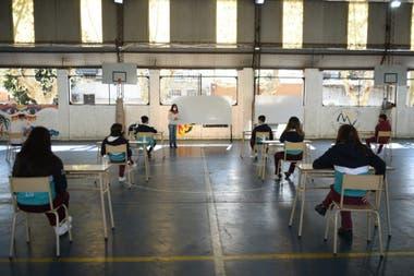 La prueba piloto se realizó en un colegio de Santos Lugares