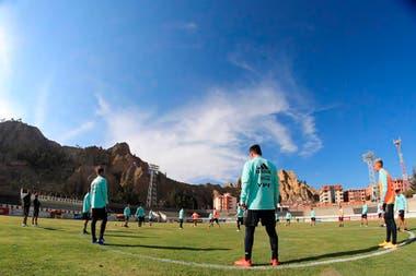 El entrenamiento del seleccionado, ya instalado en La Paz