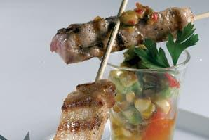 Lomitos de cerdo con salsa pico de gallo