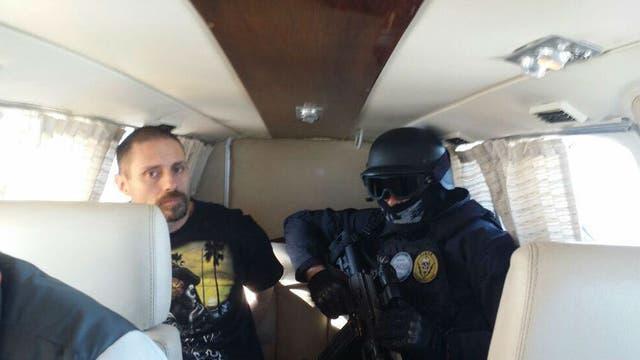 Corradi es trasladado en avión