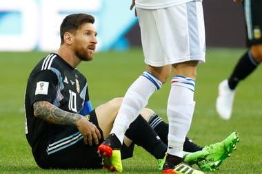 Messi durante el partido contra Islandia