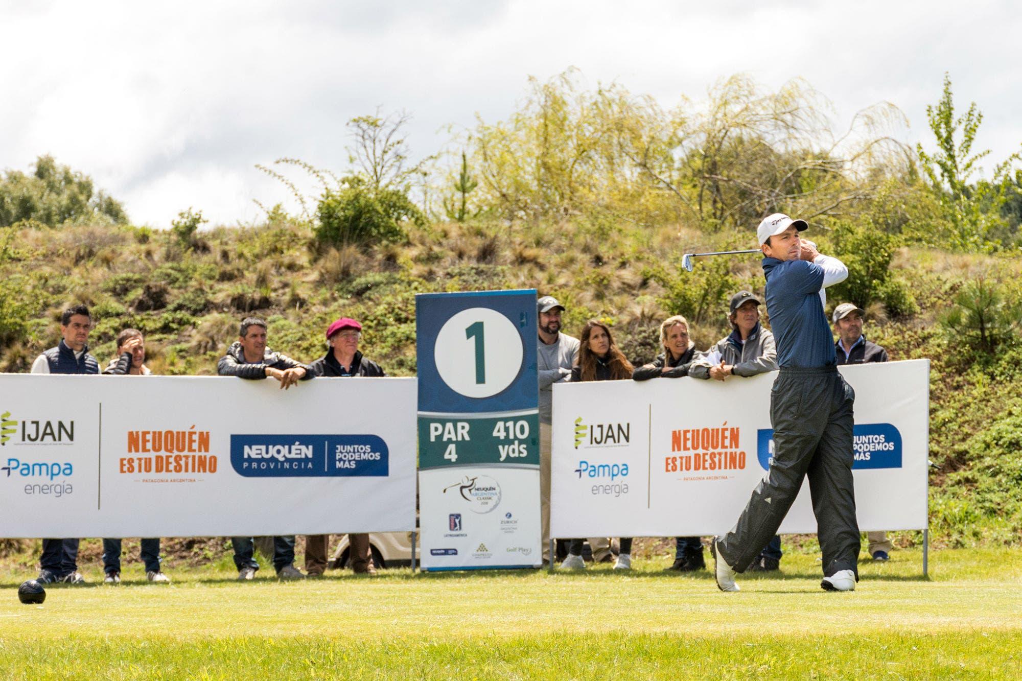PGA Latinoamérica: las claves de Clodomiro Carranza para quedar líder en Chapelco en medio de la lluvia