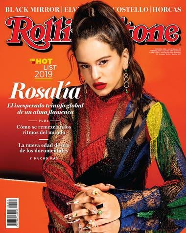 Rosalía en la tapa de la edición de febrero de Rolling Stone
