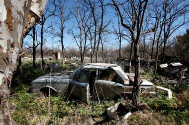 Autos abandonados en los campos