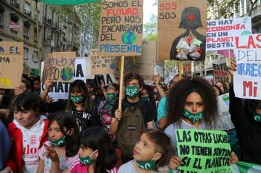 Marcha por el cambio climatico en Buenos Aires