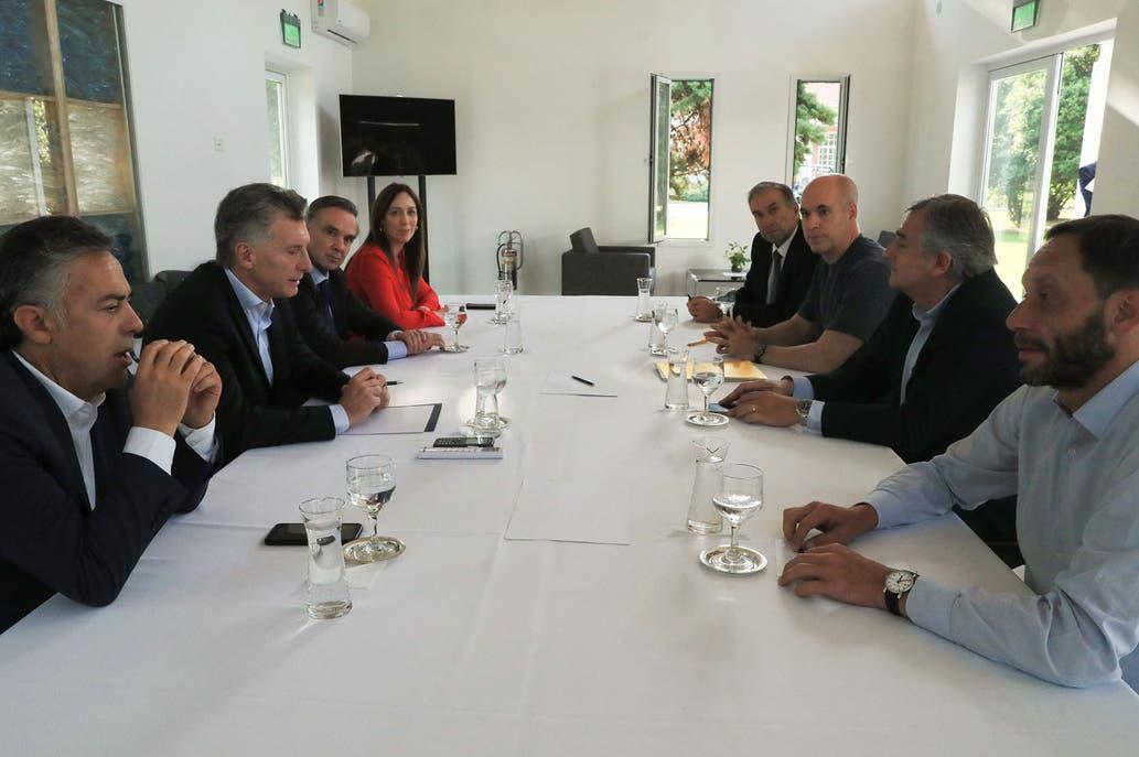 Macri, Vidal, Larreta,  Pichetto y  Cornejo, sin Marcos Peña, lanzaron la mesa opositora