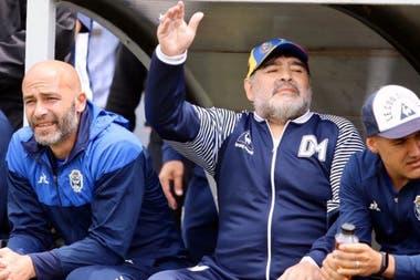 Una imagen del que sería su último partido: el triunfo ante Aldosivi en Mar del plata por 3-0.