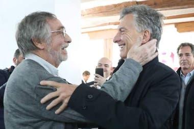 Macri y Brandoni, en Madrid