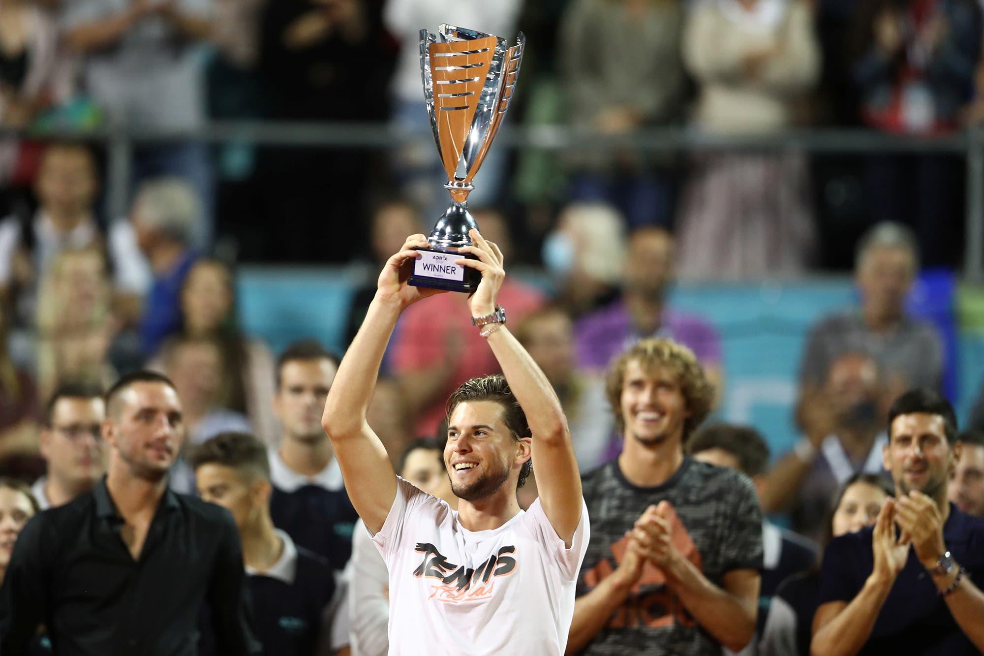 Tenis: la 'Gran Willy' ganadora de Thiem, el campeón, y las lágrimas de Novak Djokovic
