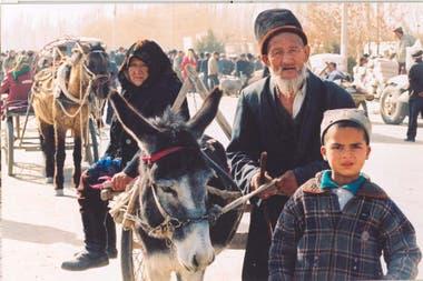 Ancianos de la minoría uigur