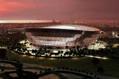 El imponente estadio Lusail, de Qatar, construido especialmente para el Mundial, que se disputará allí dentro de dos años.